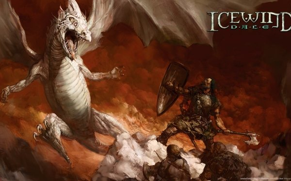 Video Game Icewind Dale Dragon HD Wallpaper   Background Image