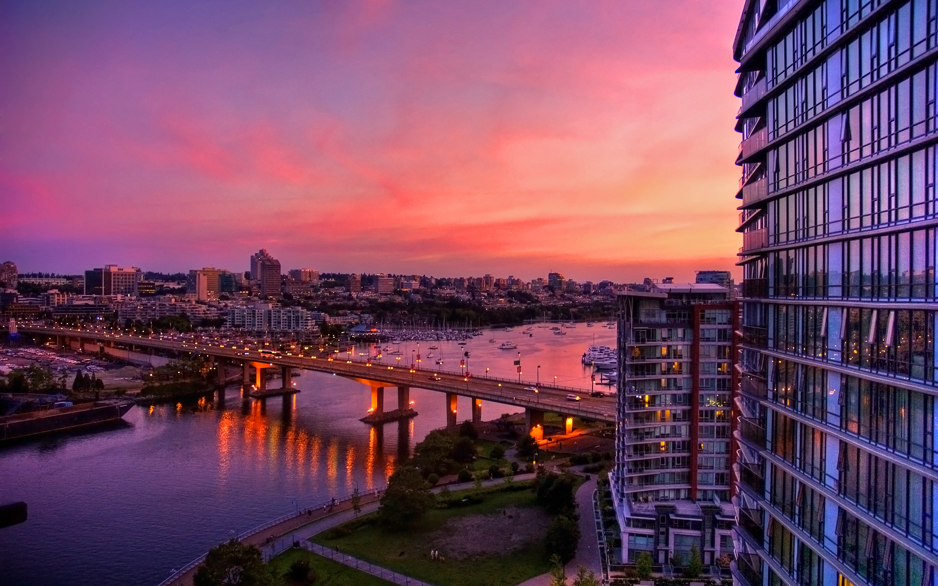 Sunset In The City Hd Wallpaper Background Image