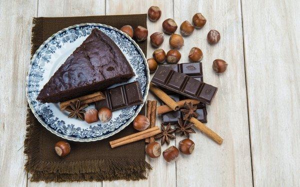 Food Cake Pastry Dessert Chocolate Cinnamon Hazelnut Still Life HD Wallpaper | Background Image