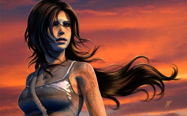 Video Game Tomb Raider (2013) Tomb Raider Lara Croft Long Hair Brown Hair HD Wallpaper | Background Image