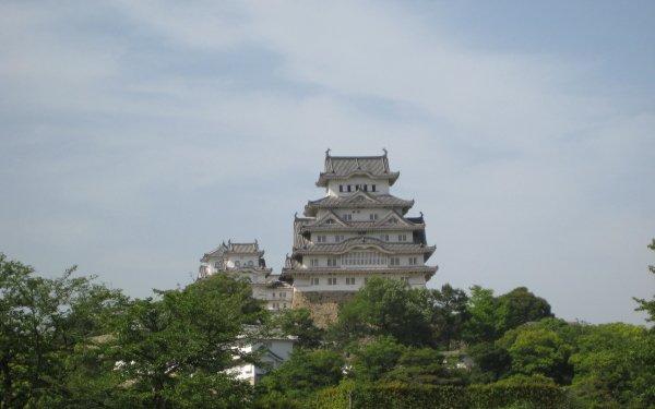 Man Made Himeji Castle Castles Japan Castle HD Wallpaper | Background Image