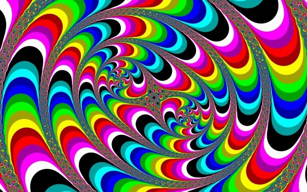 Artistic Psychedelic Colors Colorful Swirl HD Wallpaper | Background Image