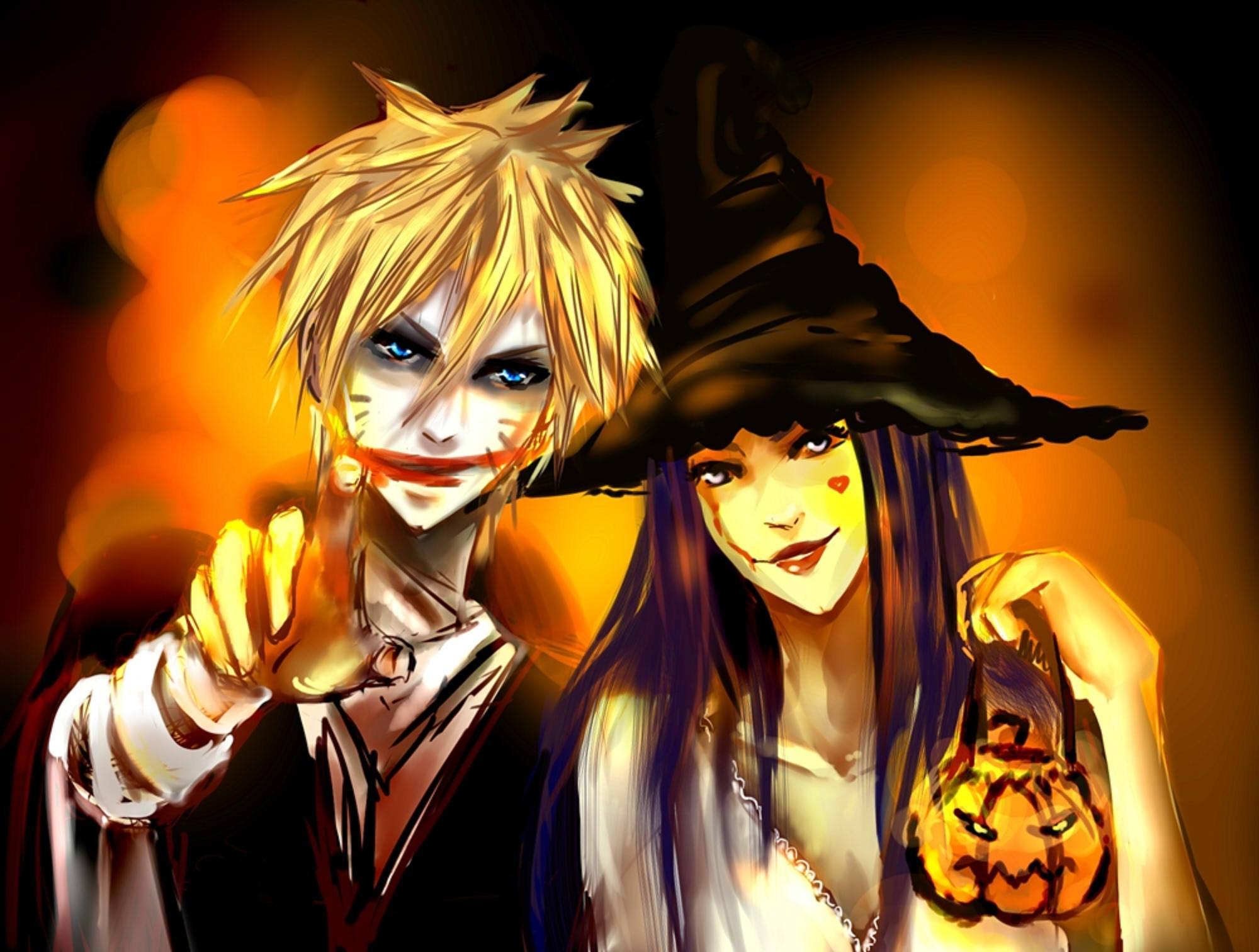 Resultado de imagem para feliz halloween anime