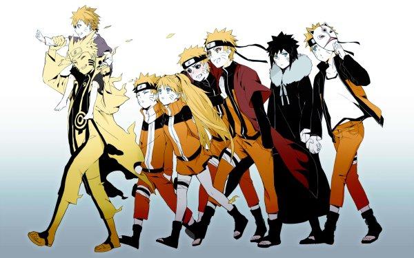 Anime Naruto Naruto Uzumaki Sasuke Uchiha Naruko Uzumaki Fondo de pantalla HD | Fondo de Escritorio