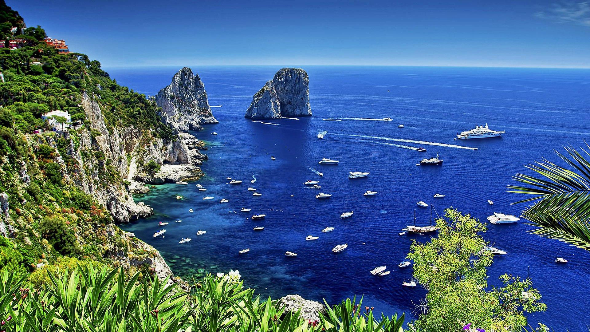 Capri Italy Hd Wallpaper Background Image 1920x1080 Id