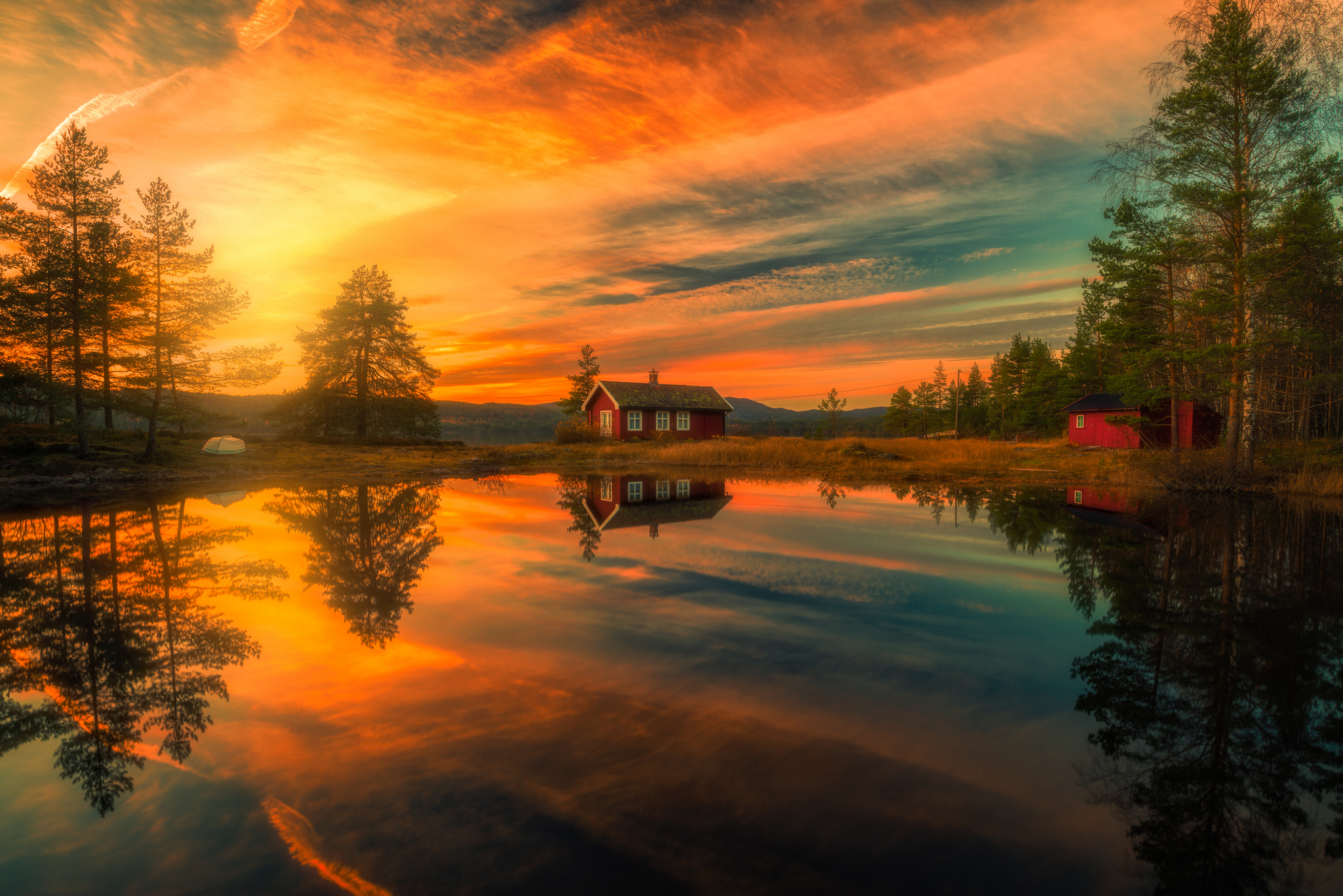 Haus am see wallpaper  Sunset over House on the Lake Full HD Wallpaper and Hintergrund ...