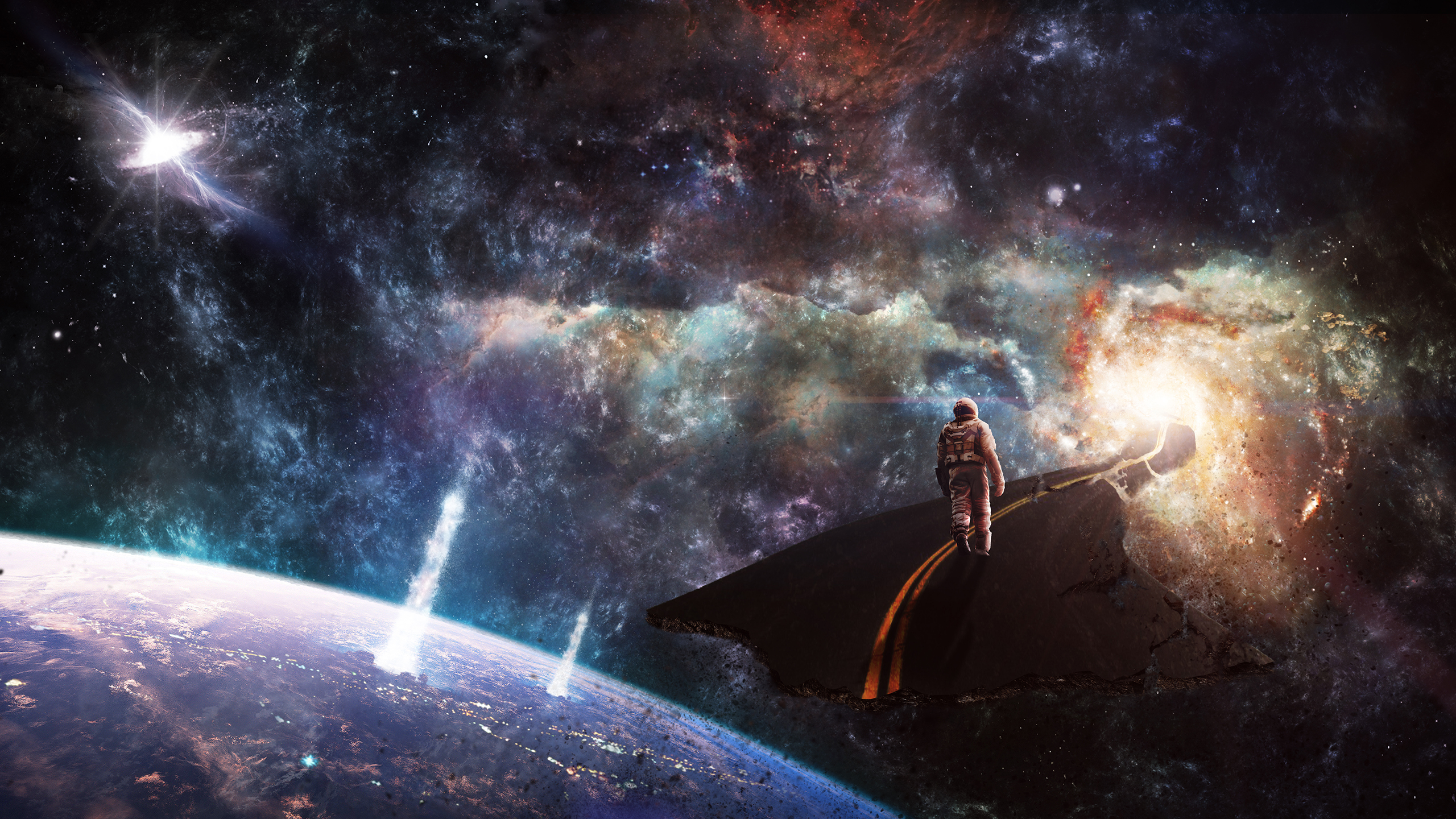 The dream hd wallpaper background image 2560x1440 id - Space wallpaper road ...