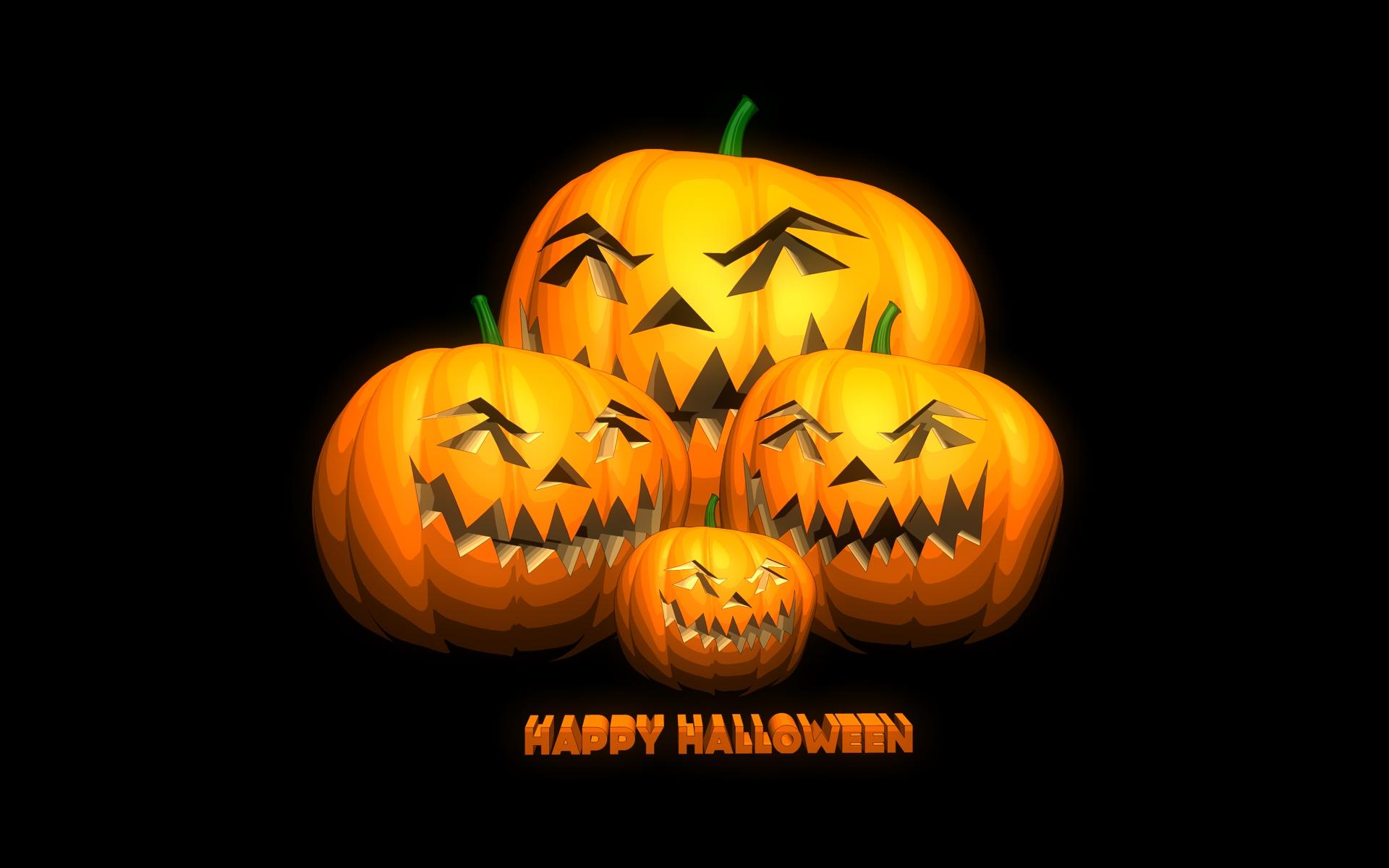 Vacances - Halloween  Vacances Jack-o'-lantern Happy Halloween Fond d'écran