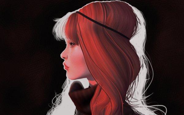Fantasy Women Redhead Profile HD Wallpaper | Background Image