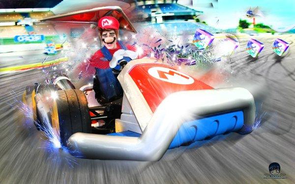 Men Cosplay Mario Mario Kart HD Wallpaper   Background Image
