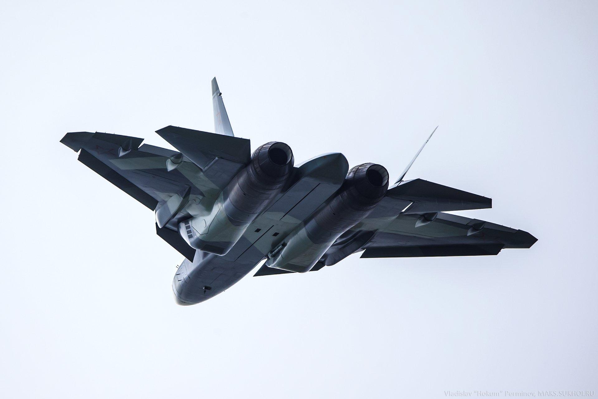 Military - Sukhoi Su-57  Jet Fighter Aircraft Warplane Wallpaper