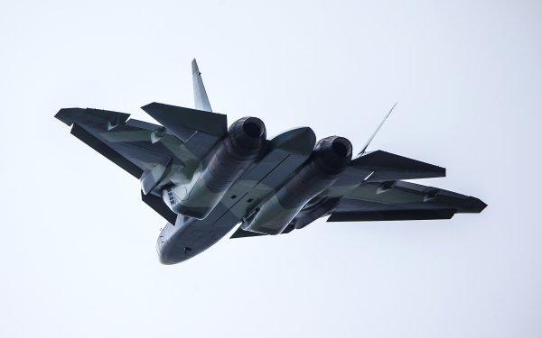 Military Sukhoi Su-57 Jet Fighters Jet Fighter Aircraft Warplane HD Wallpaper | Background Image