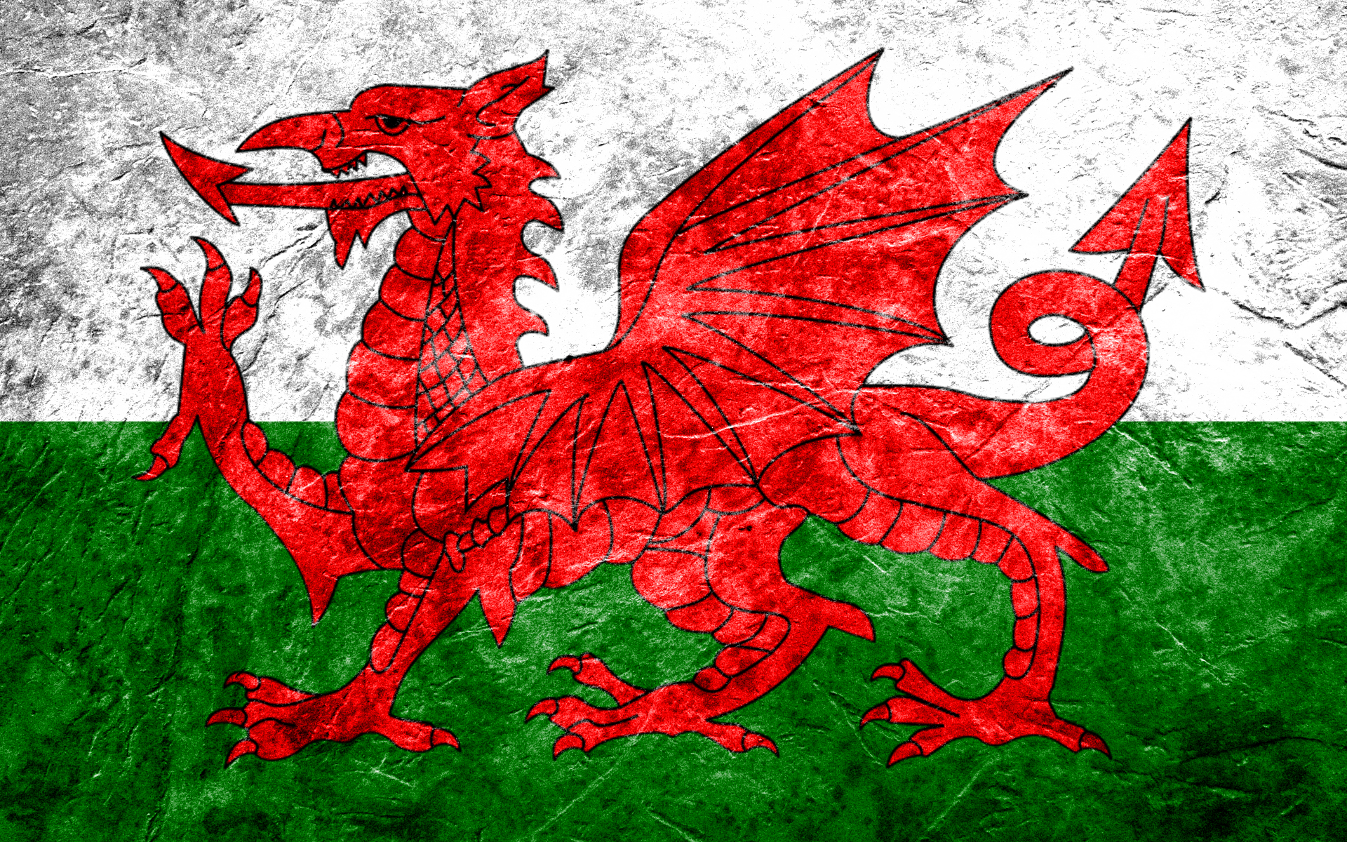 Diversen - Flag Of Wales  Wallpaper