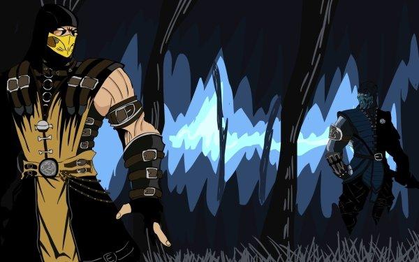 Video Game Mortal Kombat Sub-Zero Scorpion Mortal Kombat X Mask Hood Belt Glove White Eyes Blue Eyes HD Wallpaper   Background Image