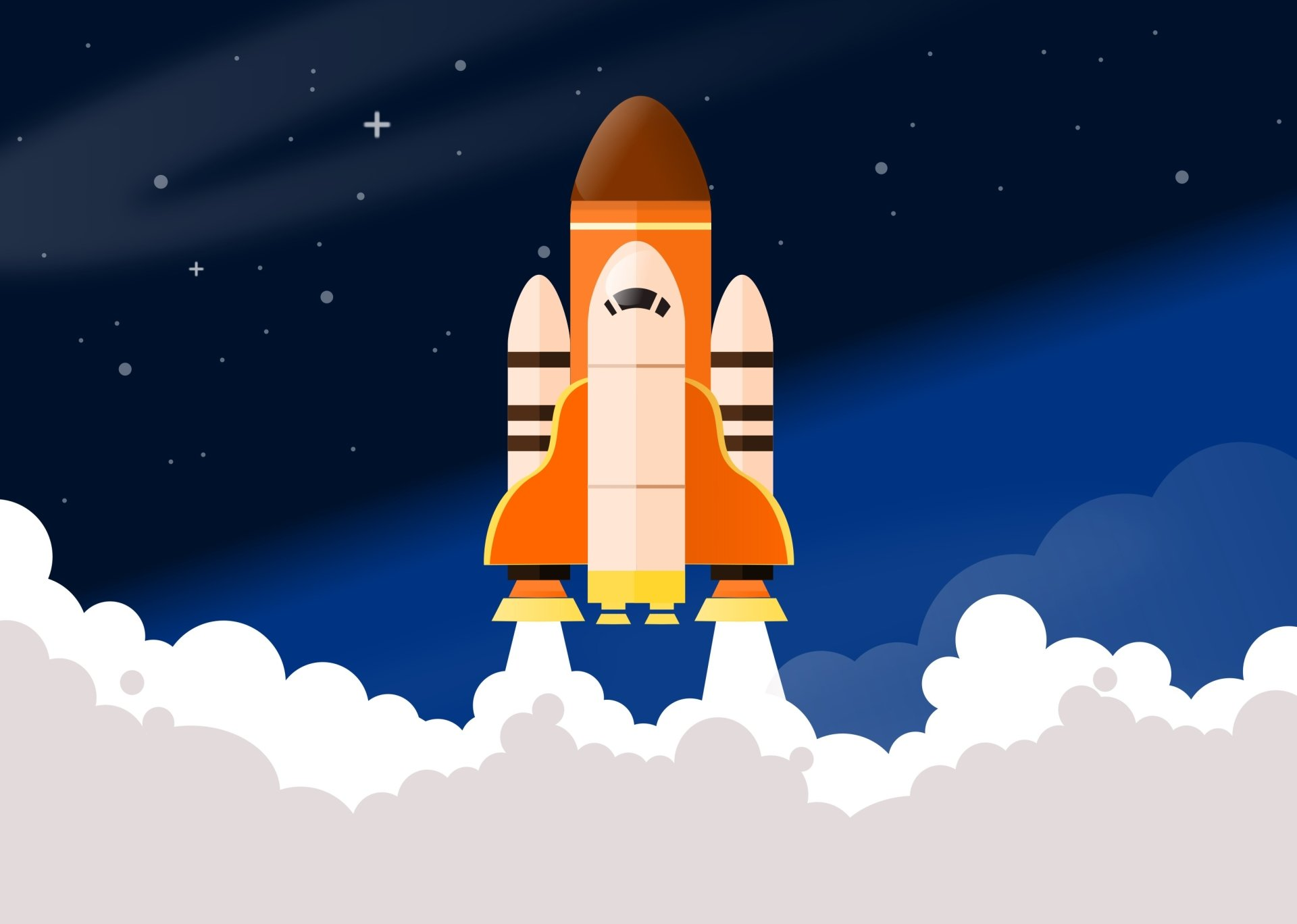 Vehicles - Space Shuttle  Smoke Artistic Wallpaper