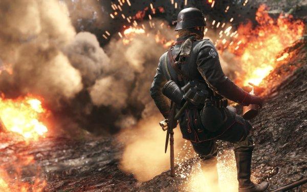 Video Game Battlefield 1 Battlefield Soldier Explosion HD Wallpaper | Background Image