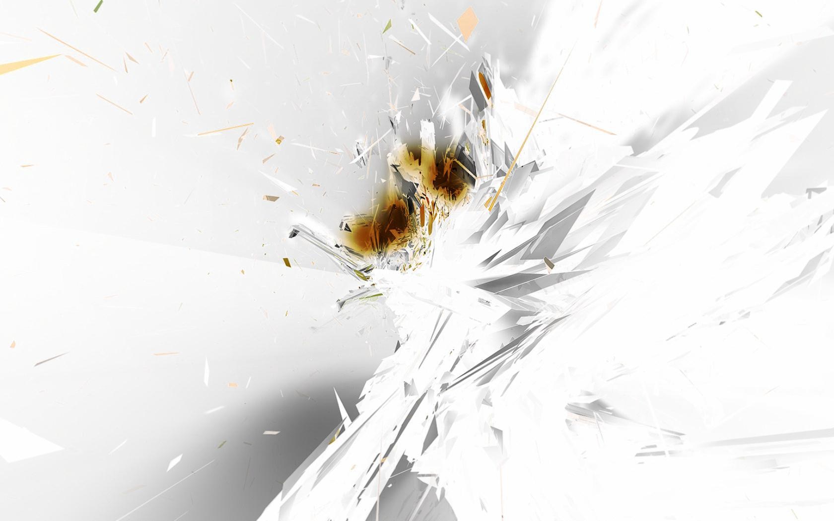 Abstract - White Wallpaper