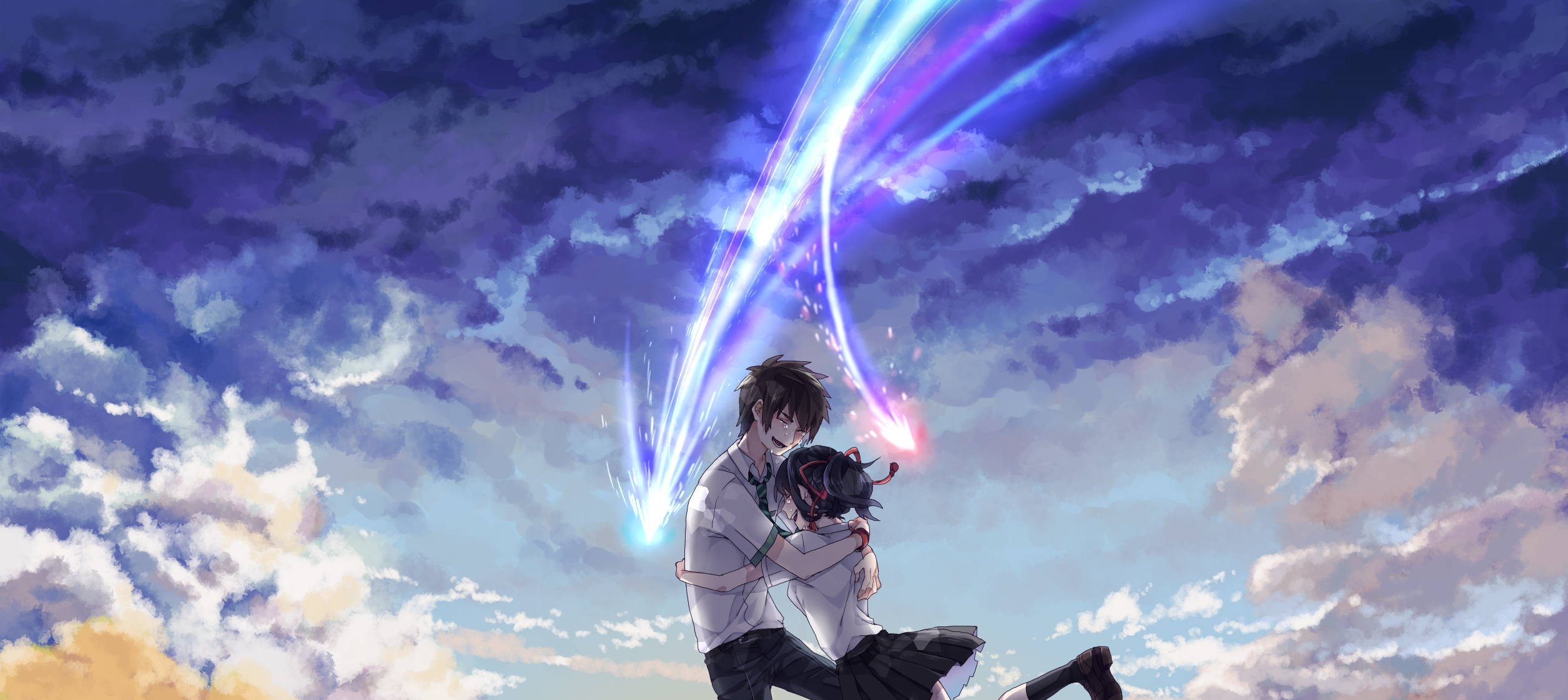 Your Name Hd Wallpaper Background Image 2511x1122 Id