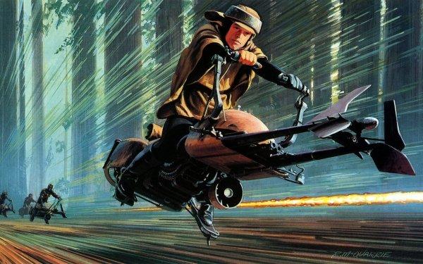 Movie Star Wars Episode VI: Return Of The Jedi  Star Wars Speeder Bike HD Wallpaper | Background Image