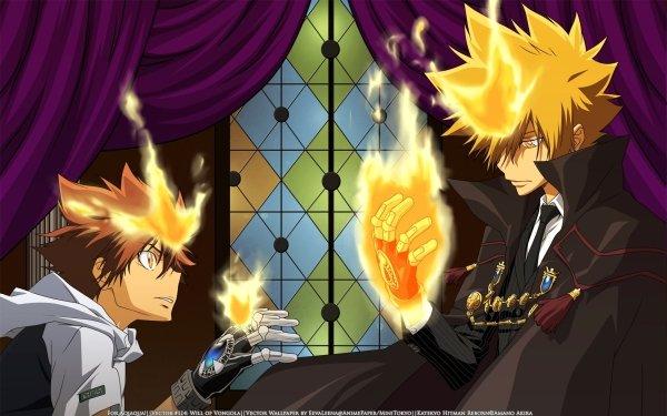 Anime Katekyō Hitman Reborn! Tsunayoshi Sawada Giotto HD Wallpaper   Background Image