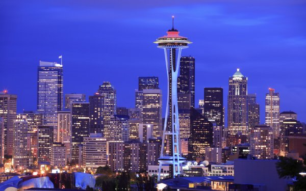 Man Made Seattle Cities United States Space Needle City HD Wallpaper | Background Image