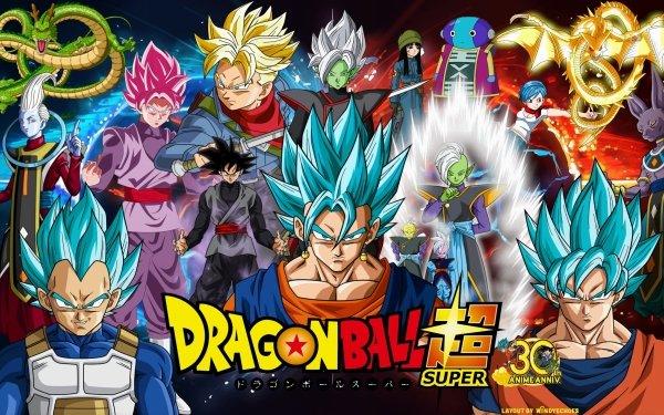 Anime Dragon Ball Super Dragon Ball Whis Shenron Zarama Goku SSGSS Goku SSGSS Vegeta SSGSS Vegito Vegeta Vegito SSR Black Black Black Goku Zamasu Gowasu Mai Trunks Zeno Bulma Supreme Kai Beerus HD Wallpaper | Background Image