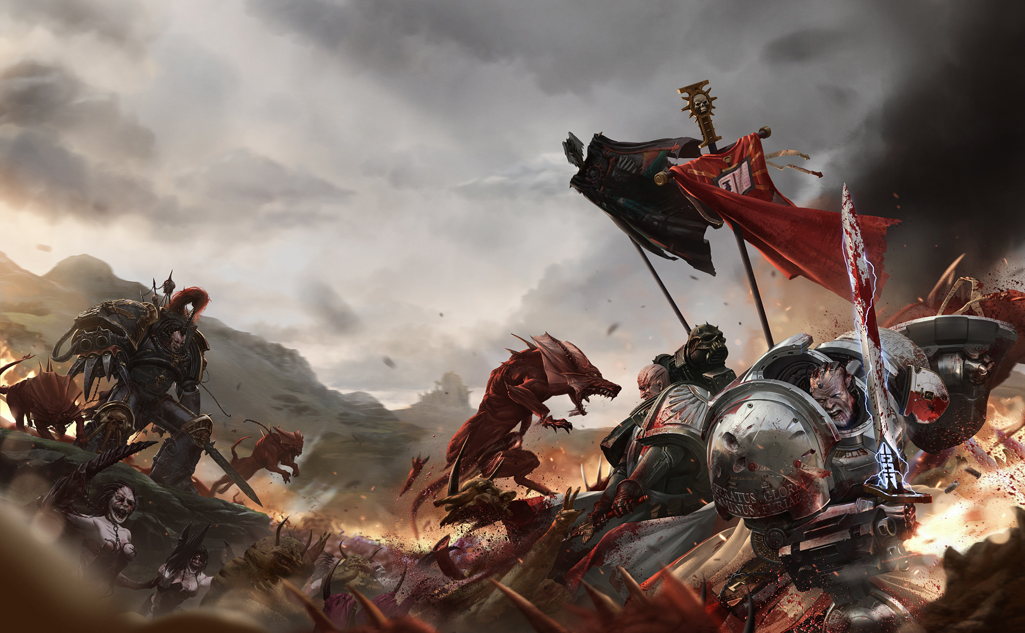 Warhammer 40k Hd Wallpaper Background Image 2000x1236 Id