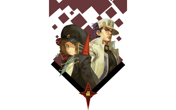 Anime Crossover Mako Mankanshoku Jotaro Kujo Kill La Kill Jojo's Bizarre Adventure HD Wallpaper | Background Image