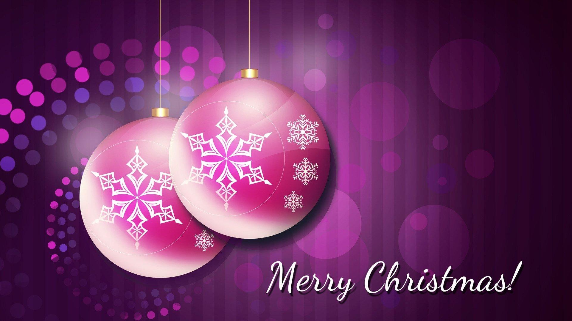 Holiday - Christmas  Holiday Christmas Ornaments Purple Merry Christmas Wallpaper
