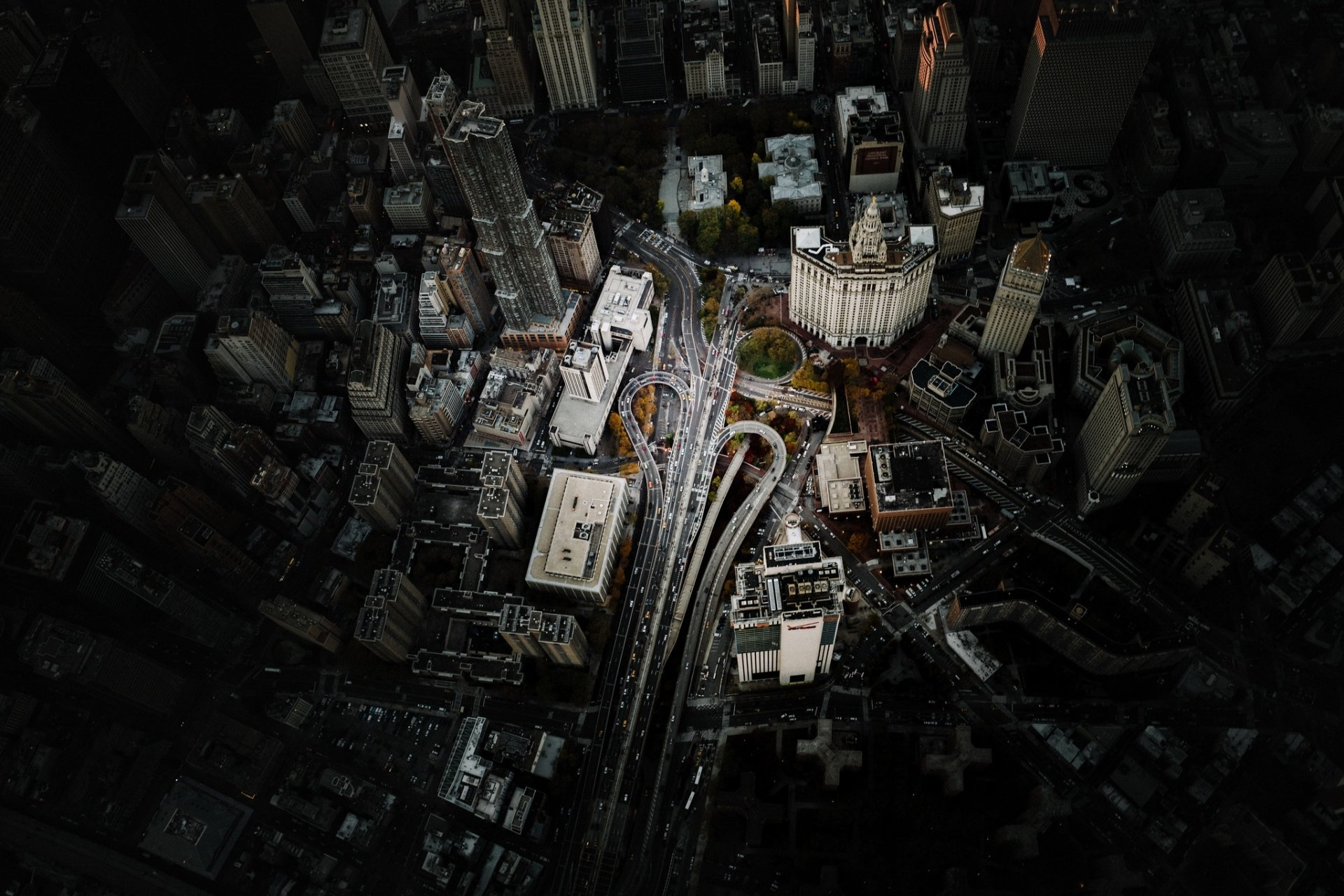 Man Made - Manhattan  Aerial USA City Building Road New York Wallpaper