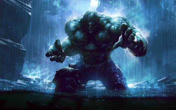 Comics Marvel Comics Hulk Wolverine Rain Battle HD Wallpaper   Background Image