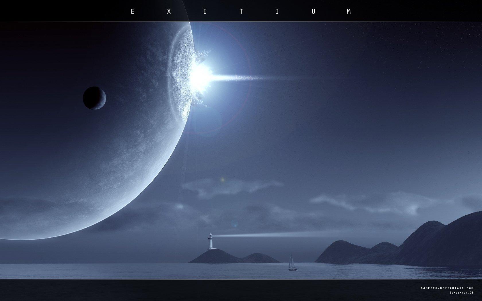 Sci Fi - Planet Rise  Wallpaper