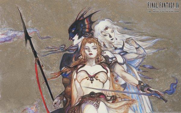 Video Game Final Fantasy IV Final Fantasy Cecil Harvey Kain Highwind Rosa Joanna Farrell HD Wallpaper | Background Image