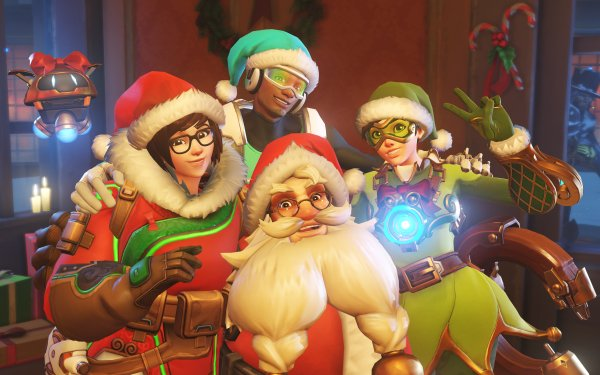 Video Game Overwatch Mei Lúcio Tracer Torbjörn Christmas HD Wallpaper | Background Image