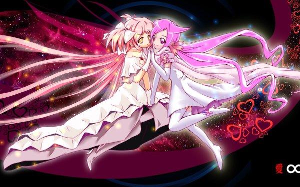Anime Crossover Ultimate Madoka Madoka Kaname Pretty Cure! Heartcatch Precure! Infinite Pretty Cure Hanasaki Tsubomi Puella Magi Madoka Magica HD Wallpaper | Background Image