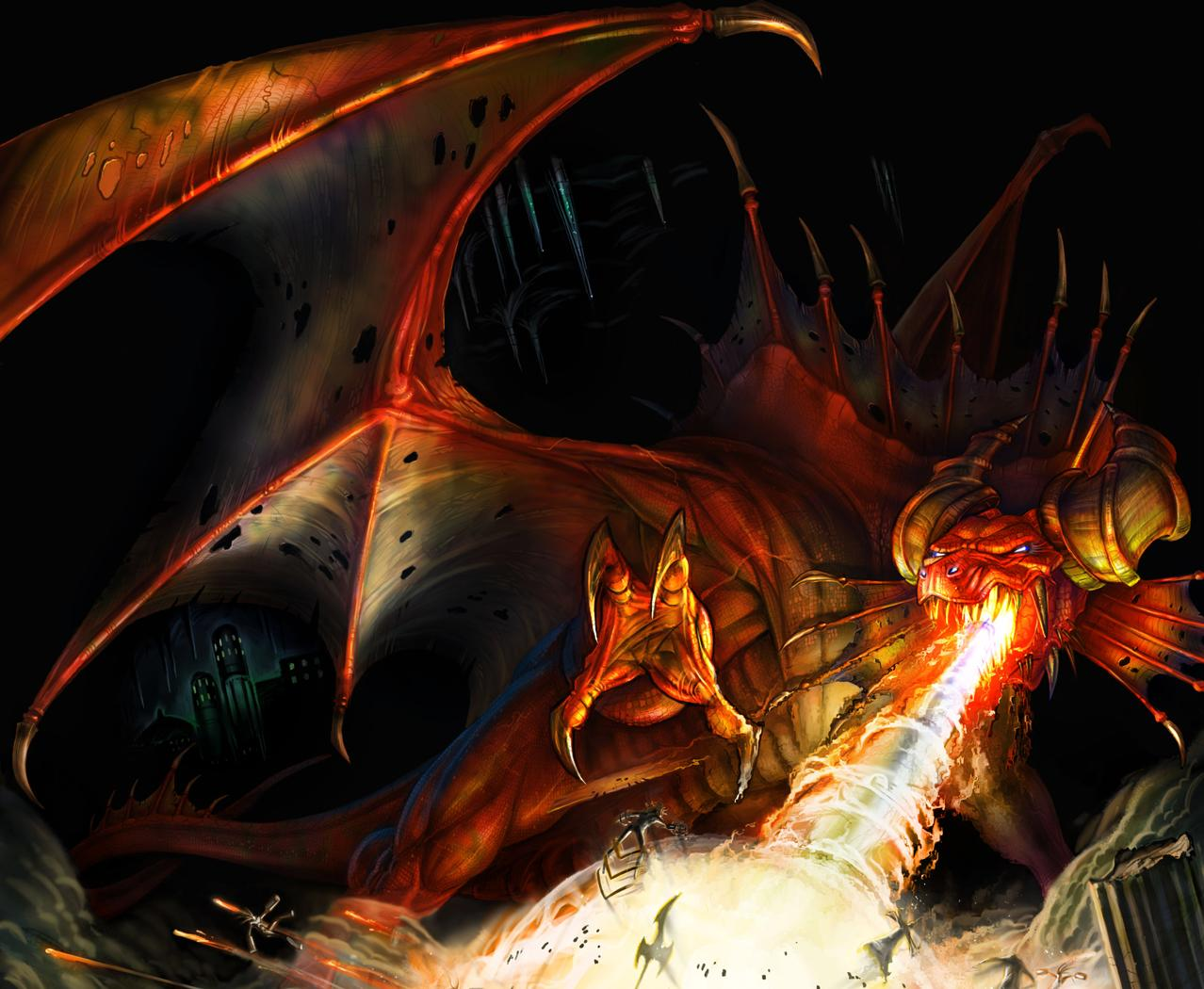 Evil Fire Dragon: Dragon Wallpaper And Background Image