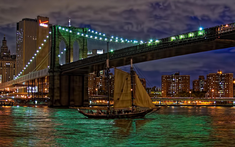 Brooklyn Bridge At Night Fond D'écran HD