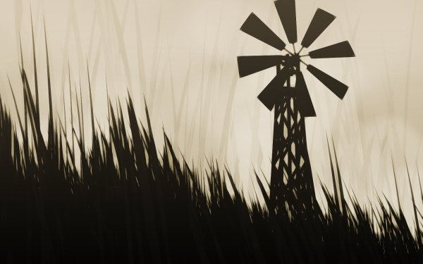 Artistic Vector Windmill HD Wallpaper | Background Image