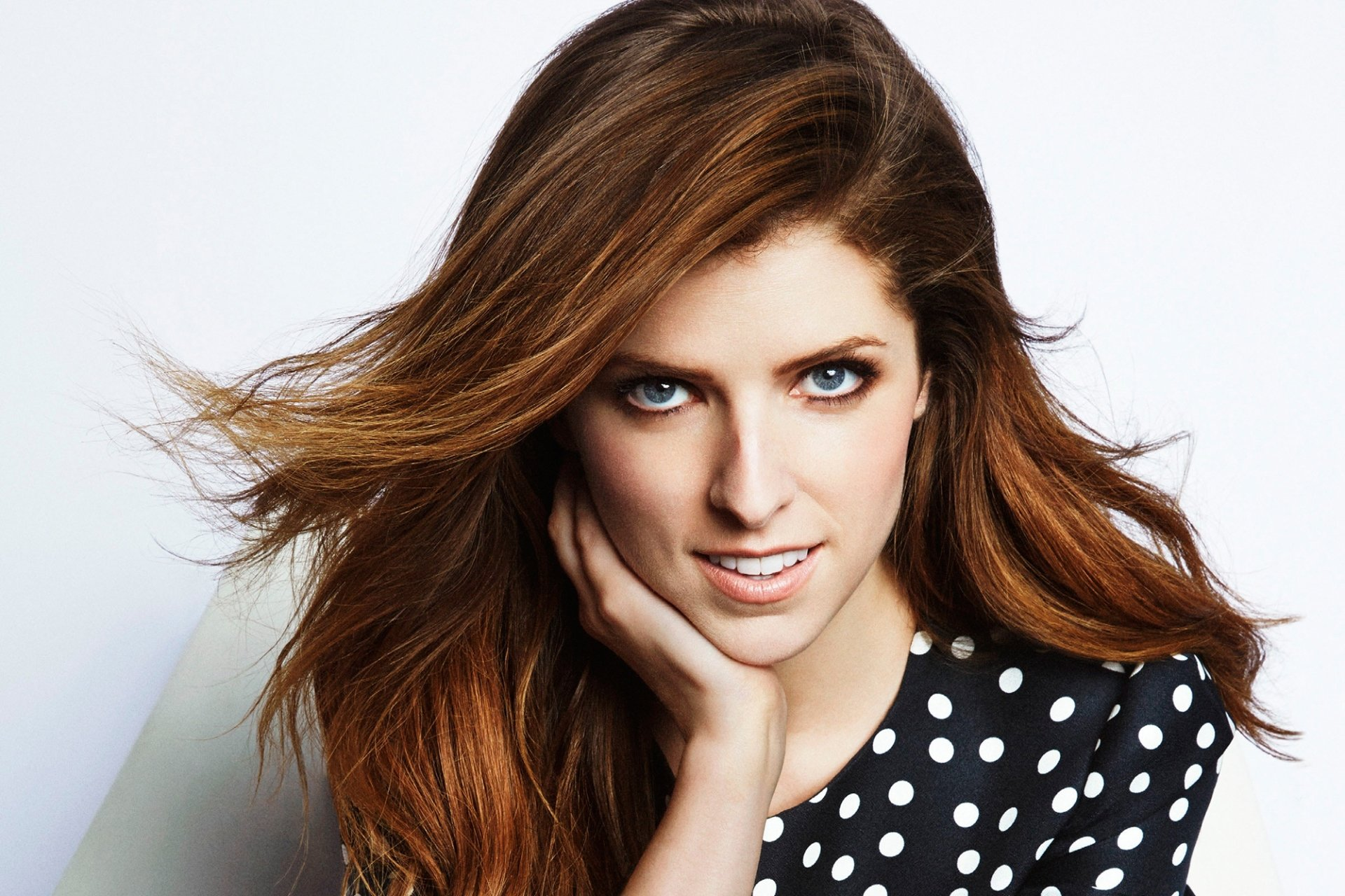 Celebrity - Anna Kendrick  Actress American Blue Eyes Redhead Face Wallpaper