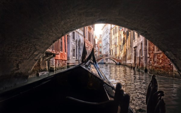 Man Made Venice Cities Italy Canal House Gondola HD Wallpaper | Background Image