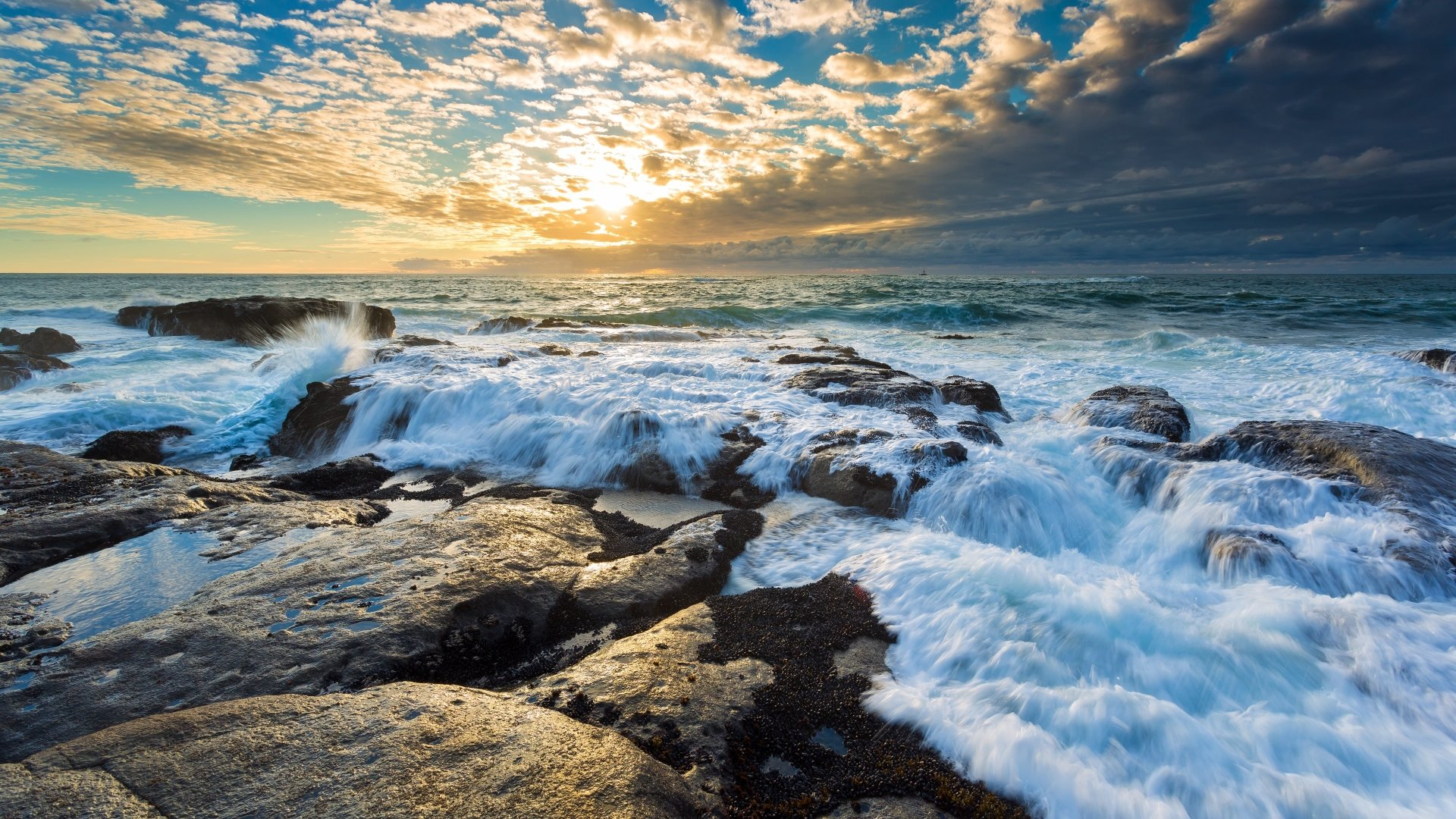 Wallpapers Rocky Beach Desktop Wallpapers: Rocky Seascape 4k Ultra HD Wallpaper