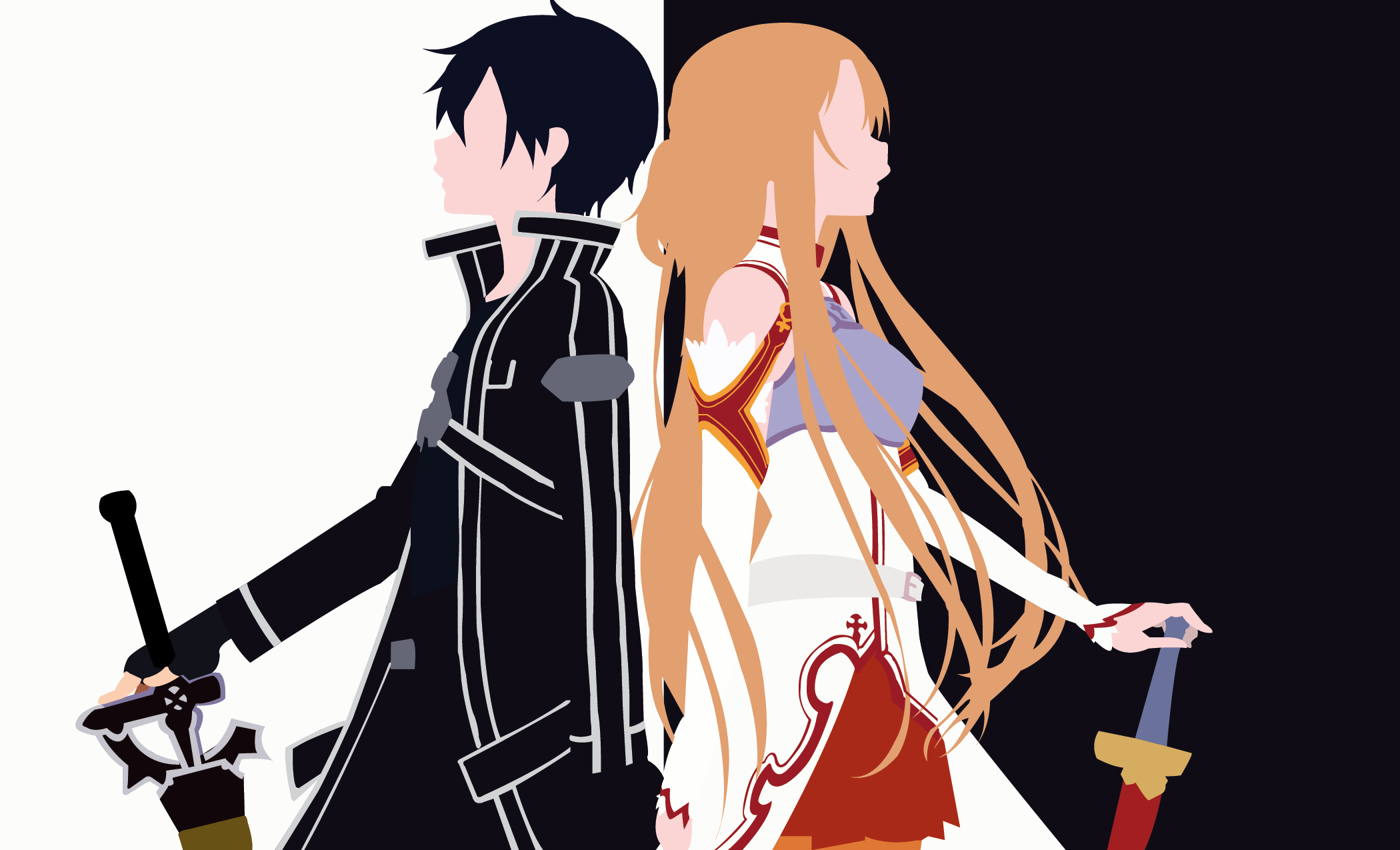 1070 kirito sword art online hd wallpapers backgrounds for Minimal art online
