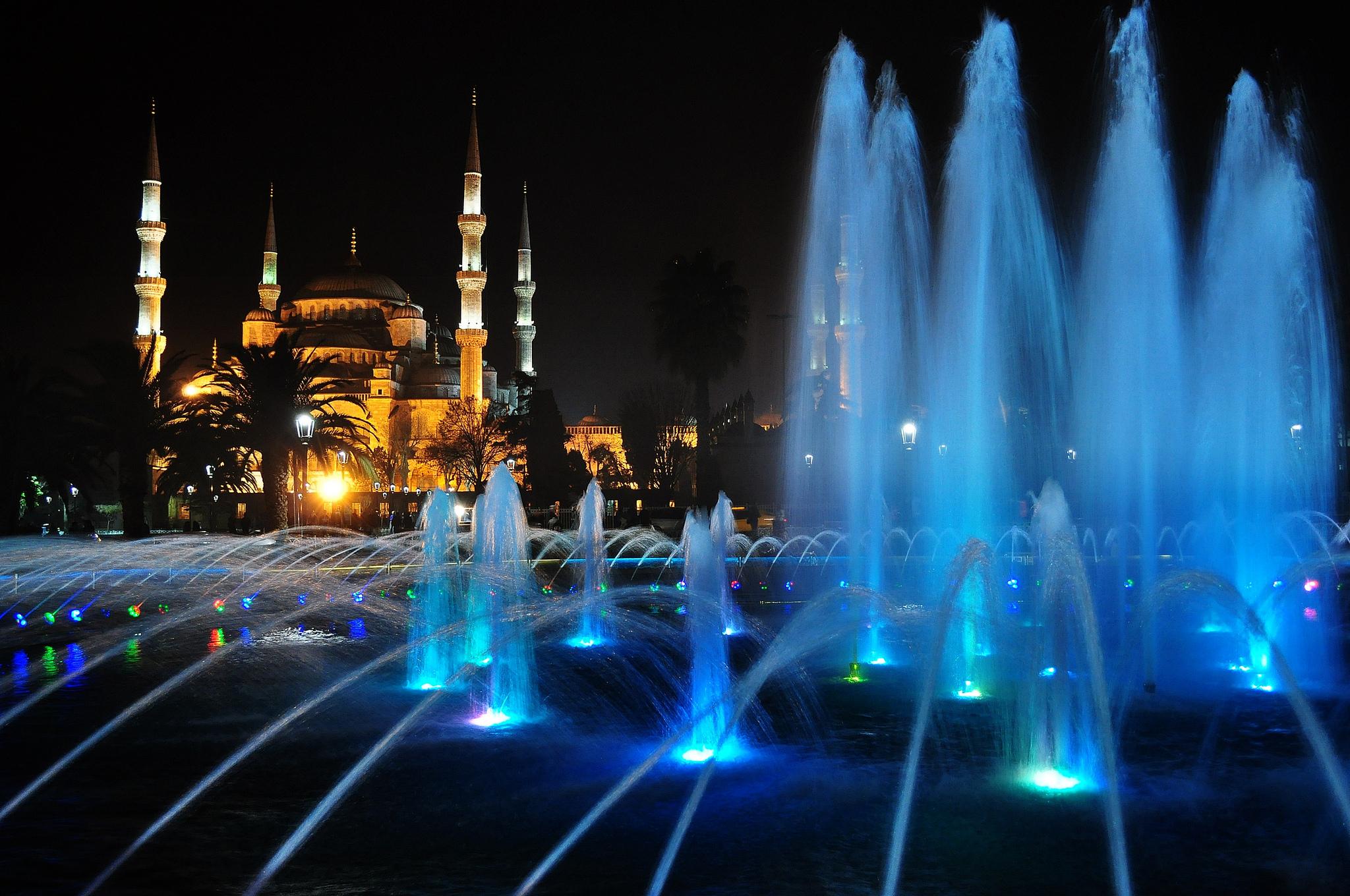 Обои стамбул, фонтан, турция, мечеть, Вода, мечеть султанахмет. Города foto 7