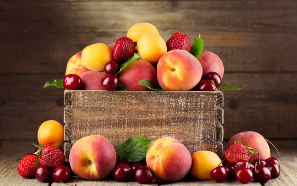Food Fruit Fruits Strawberry Cherry Peach Apricot HD Wallpaper | Background Image