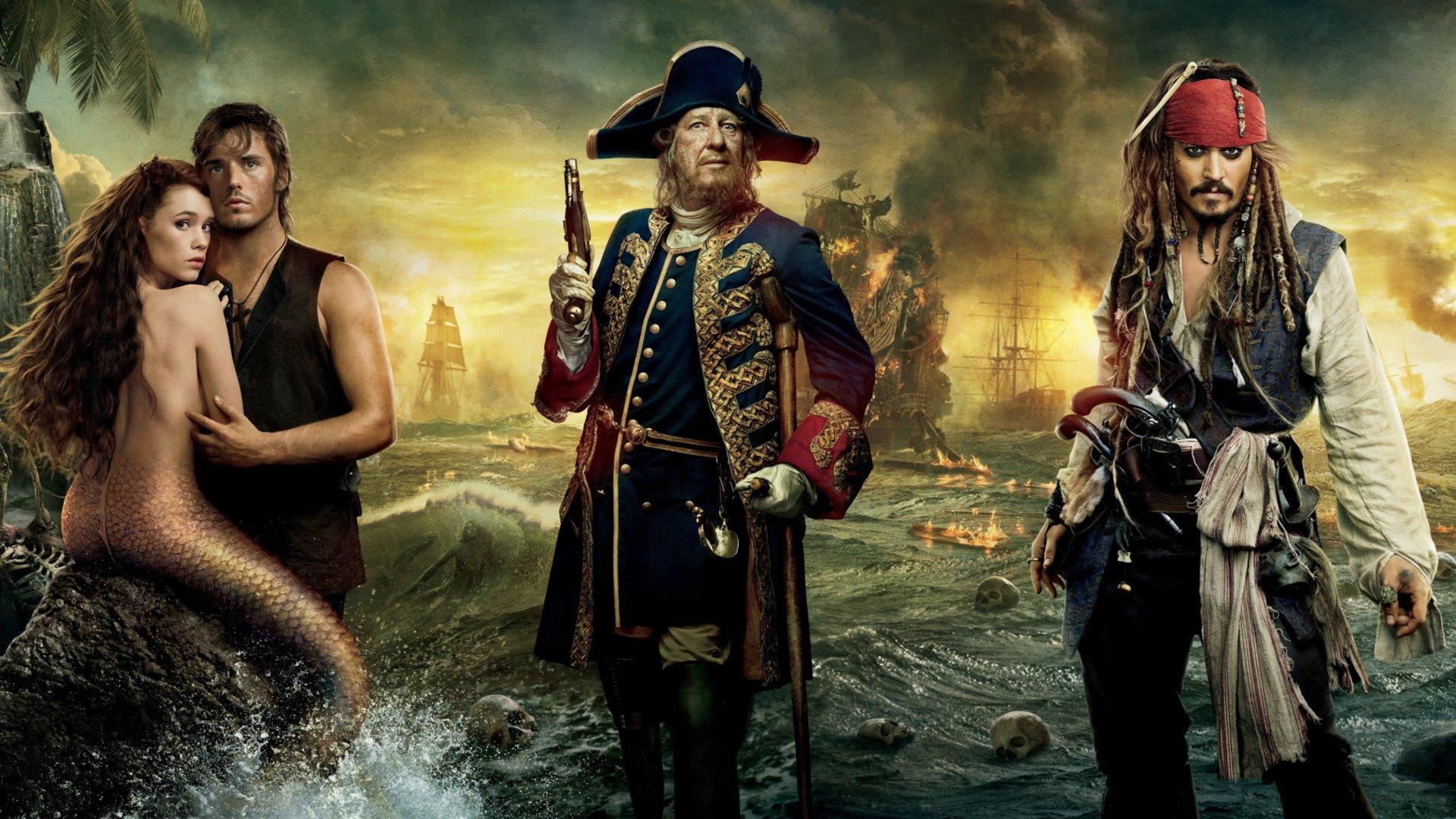 Pirates Des Caraïbes La Fontaine De Jouvence Fond Décran