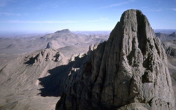 Earth Mountain Mountains Algeria Africa Assekrem Tassili N'Ajjer Hoggar Mountains HD Wallpaper   Background Image