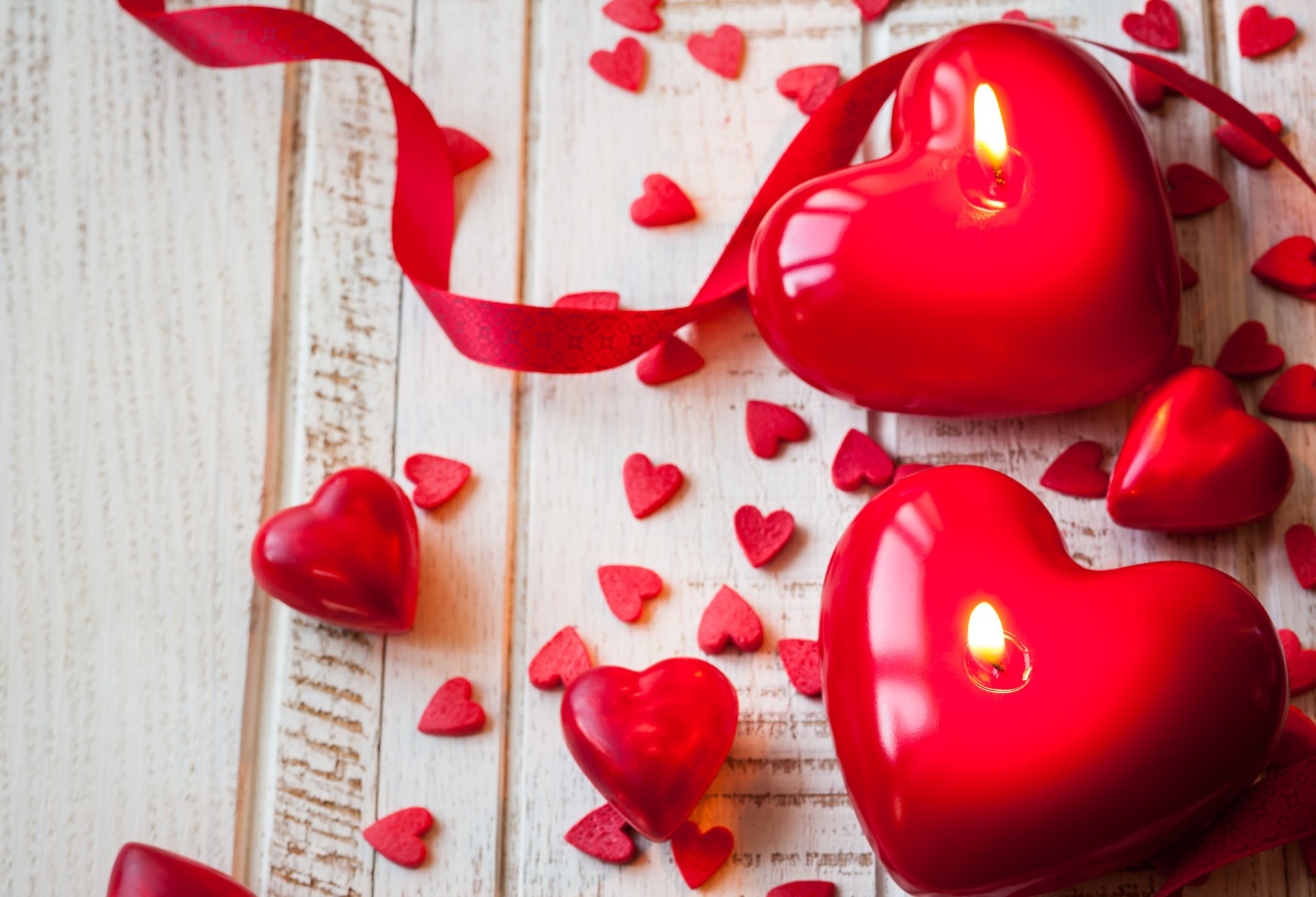 Holiday - Valentine's Day  Heart Candle Romantic Wallpaper