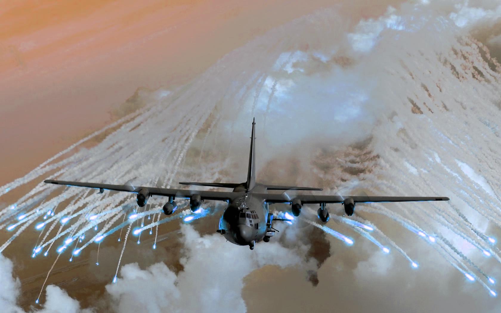 Militär - Lockheed AC-130  - Ac130 - Ac 130 Hintergrundbild