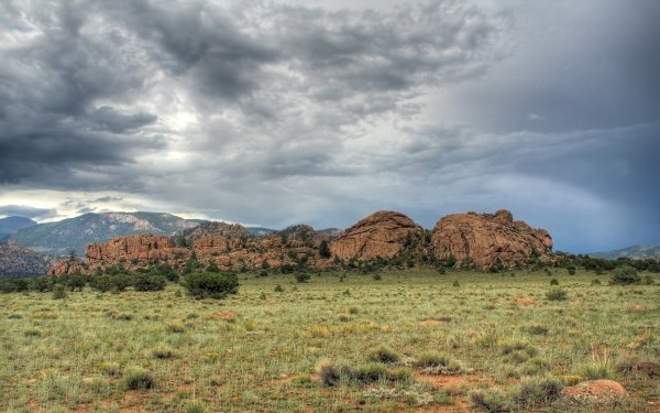 Earth Landscape Photography Sandstone Mountain Cloud Rain Desert HD Wallpaper | Background Image