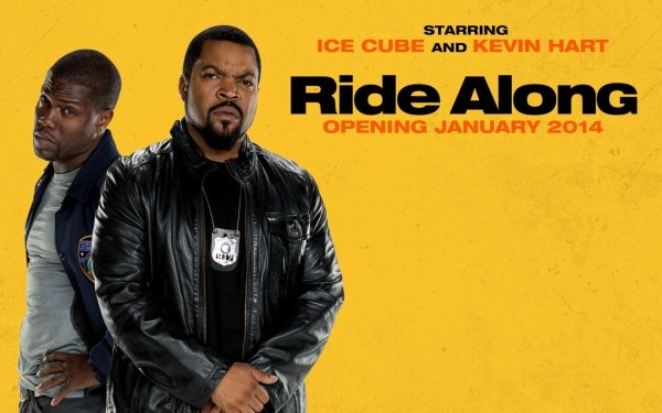 Movie Ride Along Ice Cube Kevin Hart Cop Police HD Wallpaper | Background Image